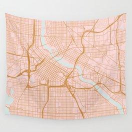 Minneapolis map, Minnesota Wall Tapestry