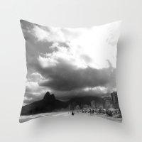 rio de janeiro Throw Pillows featuring High Rio de Janeiro by Bob Pestana