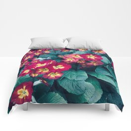 Pretty Little Red & Yellow Flowers Comforters