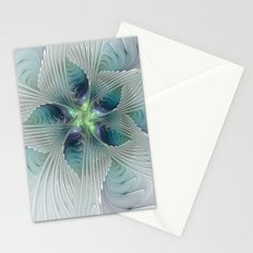 A Floral Fantasy, Abstract Fractal Art Stationery Cards