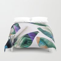 tropical Duvet Covers featuring tropical #1 by LEEMO