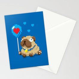 99 Pug Balloons Stationery Cards