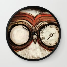 OWL WE GOT IS TIME Wall Clock