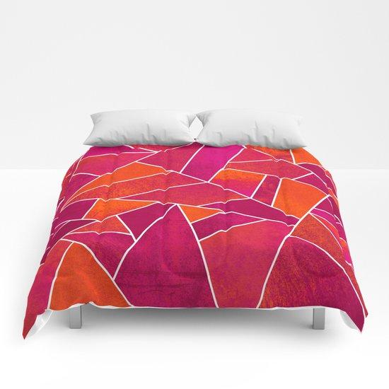 Hot Pink & Orange stone Comforters