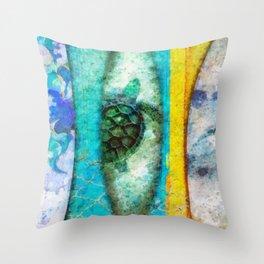 Blue Crush Throw Pillow