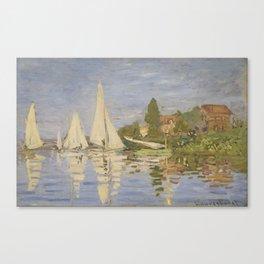 Claude Monet Regattas at Argenteuil Canvas Print
