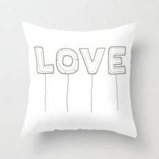 Balloon Love Throw Pillow