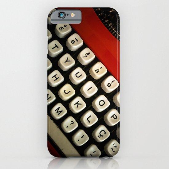 Typewriter iPhone & iPod Case