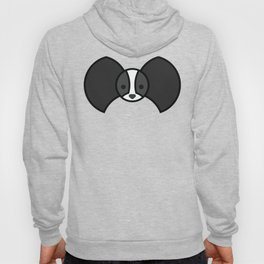 Black and white Papillon Hoody