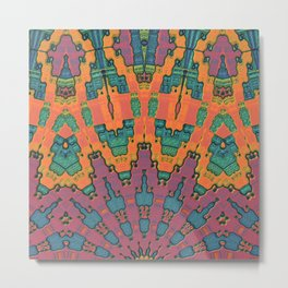Sunset Mandala No. 1 Metal Print
