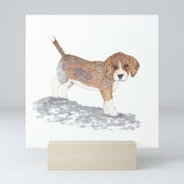 Beagle Puppy Mini Art Print