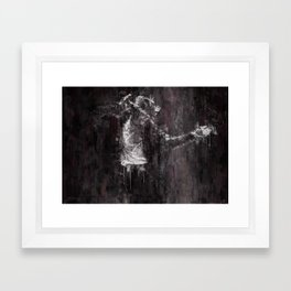 Michael MJ - Jackson, Impressionism, Poster, Music, Art Print. Pop Culture Home decor, Dorm Decor Framed Art Print