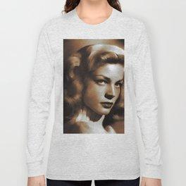 Lauren Bacall, Hollywood Legends Long Sleeve T-shirt