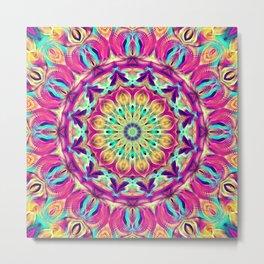 Flower Of Life Mandala (Euphoric) Metal Print