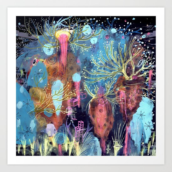 Space Hive Art Print