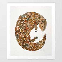 Pangolin Art Print