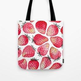 Strawberries watercolor and ink  Tote Bag