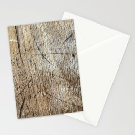 Scratched Wood Stationery Cards