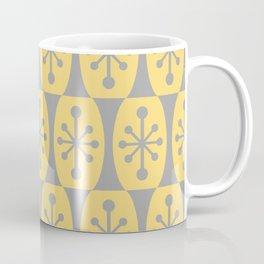 Mid Century Modern Atomic Fusion Pattern 332 Yellow and Gray Coffee Mug