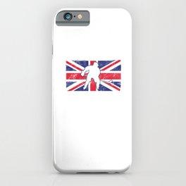 Hockey Great Britain Flag British Ice Skate Hockey Players Shinny Goalie Gift iPhone Case