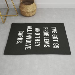 99 Problems Carbs Funny Gym Quote Rug