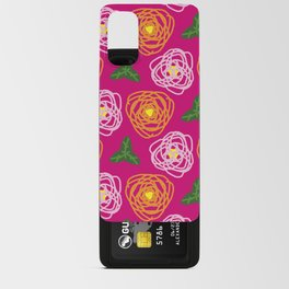 Bright pink floral Android Card Case
