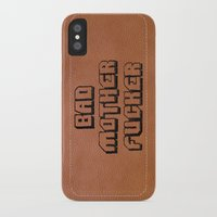 wallet iPhone & iPod Cases featuring Bad Motherfucker iPhone case by Nicklas Gustafsson