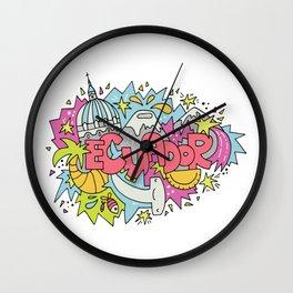 Trip to Ecuador Wall Clock