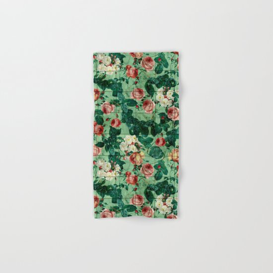 Floral and Marble Texture Hand & Bath Towel