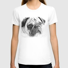 Cute Pug Art By Annie Zeno T-shirt