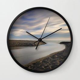 Looking at the sea ... Beach life Wall Clock
