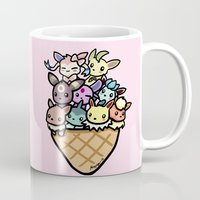 eevee Mugs featuring Eevee Ice Cream by Mayying