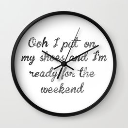 Calvin's weekend Wall Clock