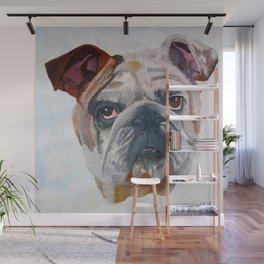 American Bulldog Portrait: Yale Mascot Wall Mural