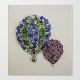 Hot Air Balloon button art.  Canvas Print