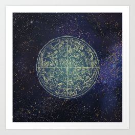 Ancient zodiac Art Print