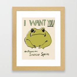 Cane Toad Framed Art Print