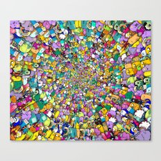 Adventure time swirl Canvas Print