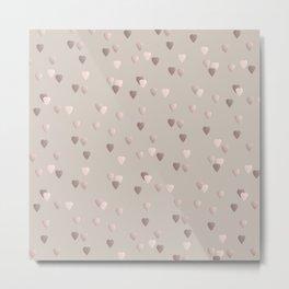 Elegant rose gold heart pattern Metal Print