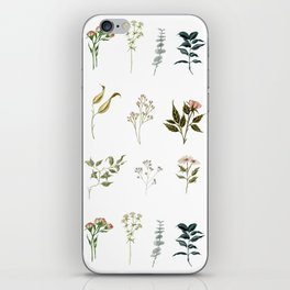 Delicate Floral Pieces iPhone Skin