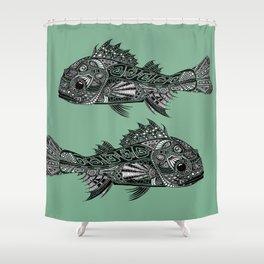A Surly Rockfish - Atlantic Thornyhead-Longspine Shower Curtain