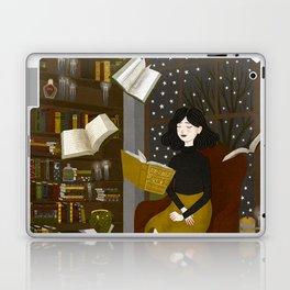 floating books Laptop & iPad Skin