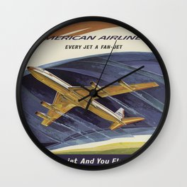 Vintage poster - Astrojet Wall Clock