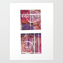 Lines, Circles And Squares, OH MY! 2 Art Print