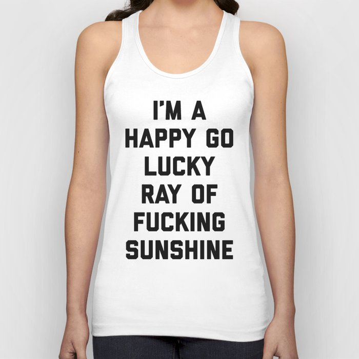 Ray Of Fucking Sunshine Funny Quote Unisex Tank Top