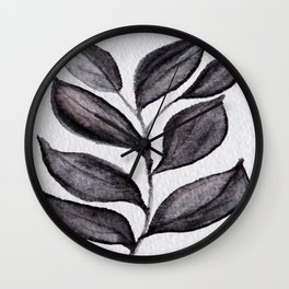 Midnight Leaves Wall Clock