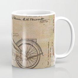 Original Motorcycle Drawing Sketch with Signatures Coffee Mug