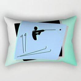 Biathlon silhouettes Rectangular Pillow