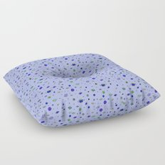 indigo Space with Blue Planets Floor Pillow