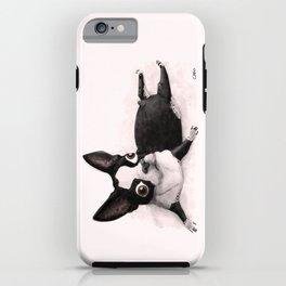 The Little Fat Boston Terrier iPhone Case